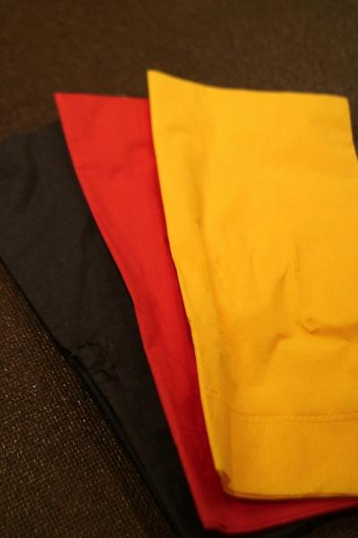 ドイツ国旗カラーのナプキン