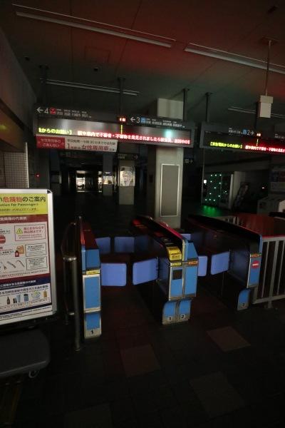 終電後の東急新丸子駅