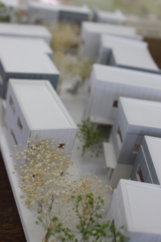 小杉御殿町の住宅模型