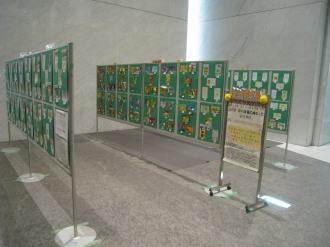 オフィス用エレベーターホールの展示