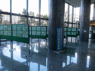 オフィスロビーの展示