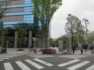 武蔵小杉タワープレイスの防災植栽追加エリア
