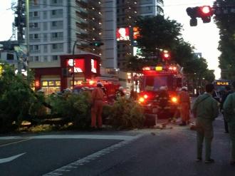 川崎市消防局による撤去作業