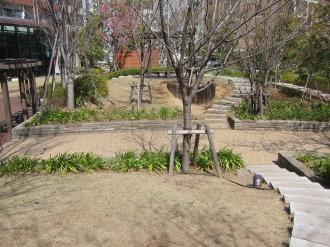 THE KOSUGI TOWER南側の庭園