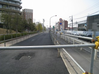 リエトコート武蔵小杉前の拡幅用地(現在)