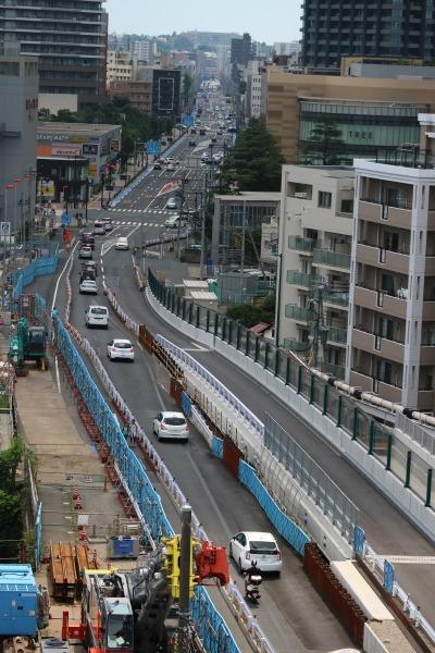 拡幅工事中の上丸子跨線橋