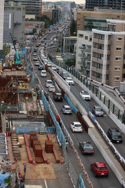 拡幅工事中の綱島街道