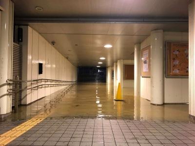 武蔵小杉新駅の冠水
