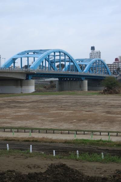 丸子橋と多摩川の河川敷