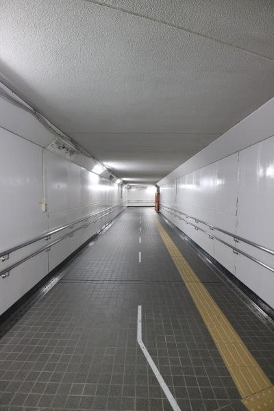 復旧した地下通路