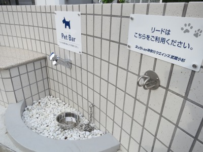 ネッツトヨタ神奈川ウエインズ武蔵小杉のペット用スポット