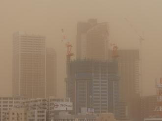 「煙霧」に覆われた武蔵小杉