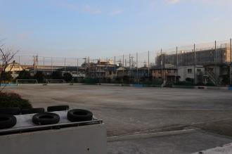 災害時にサービス提供される市立小・中学校の校庭