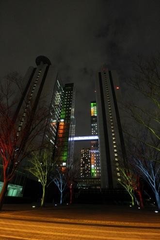NEC玉川ルネッサンスシティのライトアップ