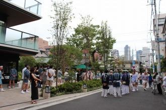 「小杉神社例大祭」の時のオープンスペース