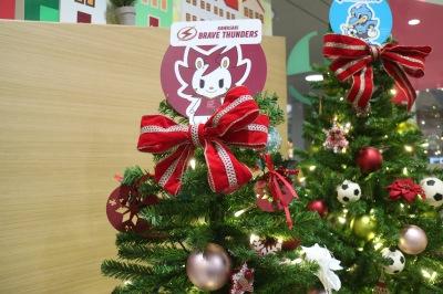 川崎ブレイブサンダースのクリスマスツリー