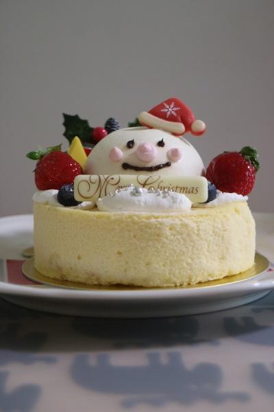 パティスリーシェリーブランの「スノーマンチーズケーキ」