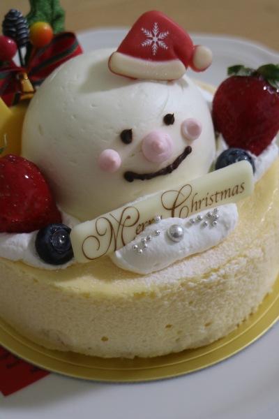 スノーマンチーズケーキ