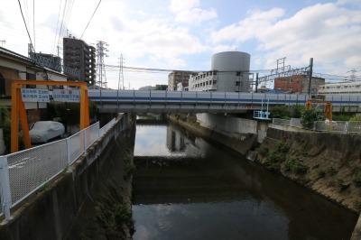 矢上川と東急線の交点