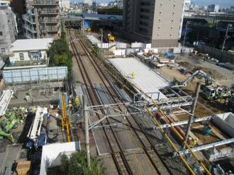 跨線橋より横須賀線方面