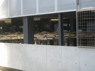 2段式ラックの駐輪設備