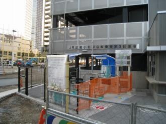 4階建て駐輪場のゲート部分
