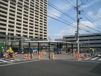 横須賀線武蔵小杉駅ロータリー(駅前交差点より)