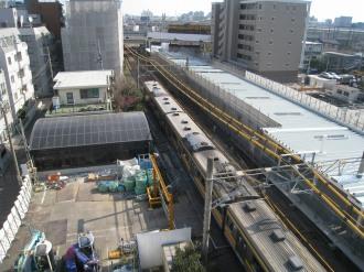 武蔵小杉新駅方面に延びる連絡通路