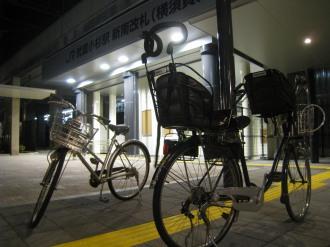 横須賀線口前の違法駐輪