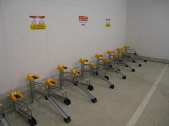 デリド武蔵小杉店の駐輪場