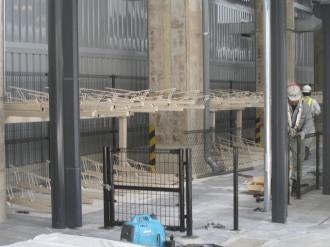 工事中のJR武蔵小杉駅自転車等第4駐車場