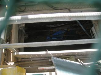 掘削によりホームと連絡通路のトンネルが開通