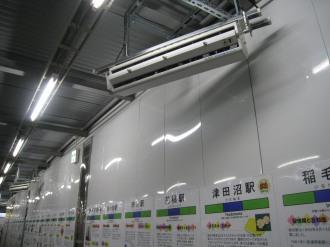 横須賀線武蔵小杉駅暫定連絡通路のミスト冷却システム