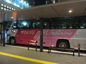 横須賀線武蔵小杉駅ロータリーの東急リムジン