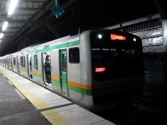 武蔵小杉新駅に停車中の湘南新宿ライン