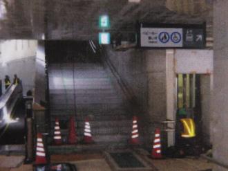 ②エレベーターの降り口