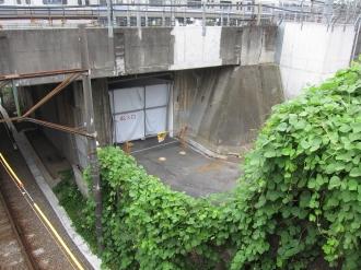 上丸子跨線橋から見た暫定連絡通路跡地