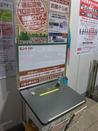 武蔵小杉駅新南口改札のスタンプ台