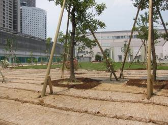 NEC玉川事業場の旧作業ヤード跡地