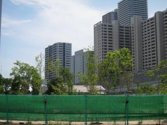 NEC玉川事業場の作業ヤード跡地