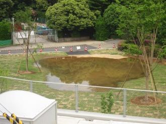 横須賀線武蔵小杉駅ホームから見た作業ヤード跡地(北側)