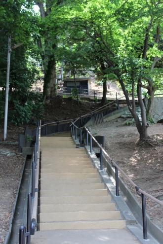 夢見ヶ崎動物公園への階段